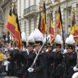 Stock Photo: Belgian cadets in defile during National Day of Belgium