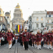 Стоковое фото: Defile of Royale Fanfare Communale de Huissignies during National Day of Belgium celebrations on July 21, 2012 in Brussels