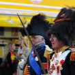 Стоковое фото: Unidentified performers show military uniform of past centuries during National Day of Belgium celebrations on July 21, 2012 in Brussel