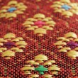 Asian decorative fabric closeup image - Stock Photo