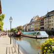 Stock Photo: Thousands of tourists from different countries visit Alsace in best time of season on August 21, 2010 in Strasbourg