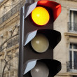 Traffic light in street in Paris — Stock Photo