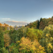 Stockfoto: Autumn sunset in Luxembourg