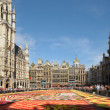 Tourists from the entire world come for The Flower Carpet 2012 this year with African theme on August 15, 2012 in Brussels - Stock Photo