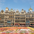 Stock Photo: Tourists from entire world admire africtheme Flower Carpet on Grand Place