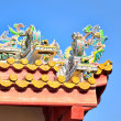 Decorated roof of buddhist temple in Bangkok in Thailand — Stock Photo
