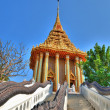 Entry in beautiful Buddhist temple in Thailand — Stock Photo