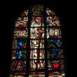 Window in Abbaye de lCambre in Brussels — Stock Photo #12287338