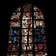 Window in Abbaye de lCambre in Brussels — Stockfoto #12287338