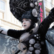 Unknown participant demonstrate her mystic costume at Zinneke Parade on May 19, 2012 in Brussels, Belfium — Stock Photo #12287506