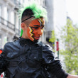 Stock Photo: Unidentified participant plays phantasy personage during Zinneke Parade on May 19, 2012 in Brussels