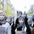 Unknown participants demonstrate their costumes at Zinneke Parade on May 19, 2012 in Brussels, Belgium — Stock Photo