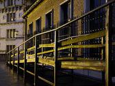 Rainy night in Antwerp — Stock Photo