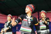 Partecipanti non identificato spettacolo di danza tradizionale da filippine durante il festival asia & u — Foto Stock