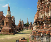 Ruins of Ayutthaya, ancient capital of Thailand — Stock Photo