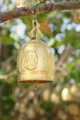 Traditional buddhist bell on entry of temple — Photo