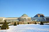 Parc botanique dans le centre de bruxelles en hiver — Photo