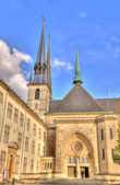 Entry in cathedral in Luxembourg — Stock Photo