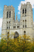 Cathedral of St. Michael and St. Gudula in Brussels — Stock Photo