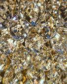Zářící krystal vánoční ozdoby — Stock fotografie