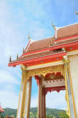Entry of buddhist temple in Thailand island Phuket — Stock Photo