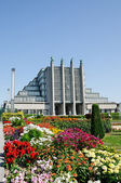 Pavillion of Brussels Expo in summer day — Stock Photo