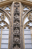 Fine details of wall of cathedral in Maastricht, Netherlands — Stock Photo
