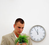Fired employee leaving office — Stock Photo