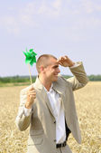 """Concept of """"go green"""" in business — Stock Photo"""