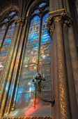 Medieval decor of gothic church Saint-Michel et Sacre Coeur in Lille — Stock Photo