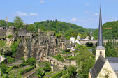 Rovine romane in area e l'abbazia nella città di lussemburgo — Foto Stock