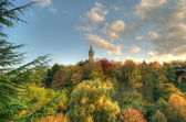 Panorama of city Luxembourg in autumn — Stock Photo