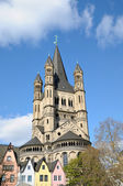 Church of Gross St. Martin in Cologne, Germany — Stock Photo
