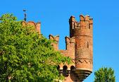 在都灵,意大利中世纪塔 — 图库照片