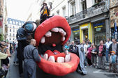 Zinneke parade on May 22, 2010 in Brussels, Belgium. — Stock Photo
