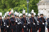Belgian cadets participate in Military Parade during National Day of Belgium — Stock Photo