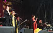 Radio Nostalgie La Legende concert during National Day of Belgium — Stock Photo