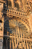Details of cathedral in Strasbourg which was built from special pink stones — Stock Photo