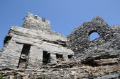 Ruins of medieval fortress in Portovenere, Italy — Stock Photo
