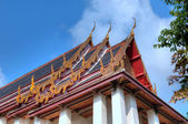 Complex carved roof of temple in Bangkok, Thailand — Stock Photo