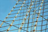 Ropes of sailing boat — Stock Photo