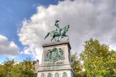 Statue of Grand Duke William II of the Netherlands in Luxembourg — Stock Photo
