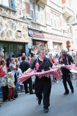 Zinneke parade on May 22, 2010 in Brussels, Belgium — Stock Photo