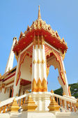 Entry in buddhist temple in Phuket island in Thailand — Stock Photo