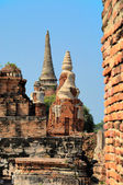 Ruins of Ayutthaya, ancient capital of Thailand — Стоковое фото