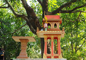 Thai traditional spirit house made in temple style placed always outdoors — Stock Photo