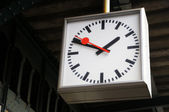Old clock on perron of railway station in Ghent, Belgium — Stock Photo
