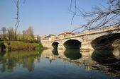 Old bridge in Turin in sunny day — Stock Photo