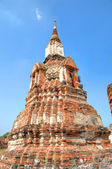 Ruins of tower in Ayutthaya, ancient capital of Thailand — Stock Photo