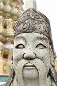 バンコク、タイの仏教寺院で戦士の古代の像 — ストック写真